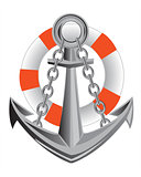 Anchor and life buoy