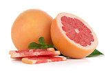 Ripe red grapefruit