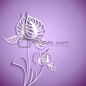 Abstract 3D Paper Flowers