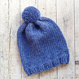wool blue hat