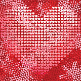 Bright love red heart seamless background pattern