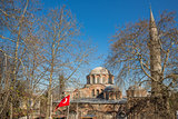 San Salvador de Cora church behind trees, Istanbul