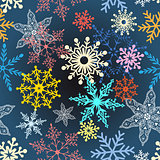multi-colored snowflakes