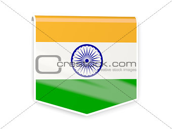 Flag label of india