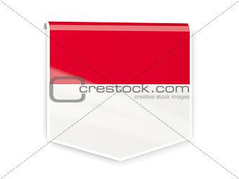 Flag label of indonesia