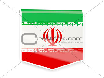Flag label of iran