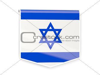 Flag label of israel