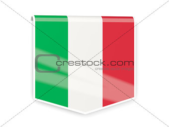Flag label of italy