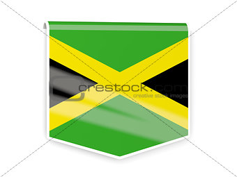 Flag label of jamaica