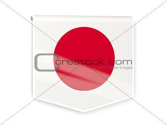 Flag label of japan