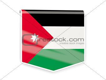 Flag label of jordan