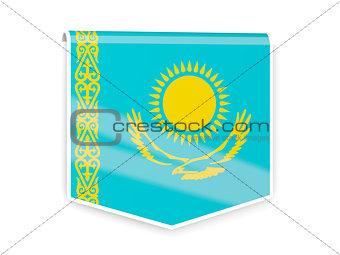 Flag label of kazakhstan