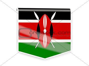 Flag label of kenya
