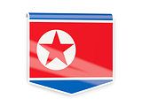 Flag label of korea north