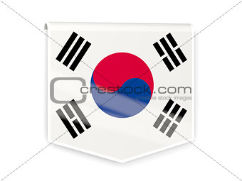 Flag label of korea south