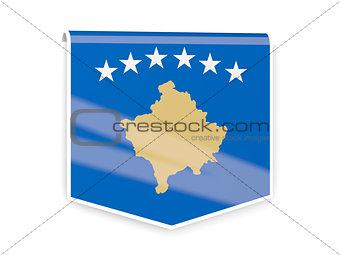 Flag label of kosovo