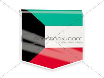 Flag label of kuwait