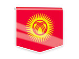 Flag label of kyrgyzstan
