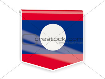 Flag label of laos