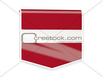 Flag label of latvia