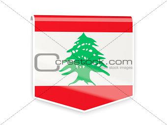 Flag label of lebanon