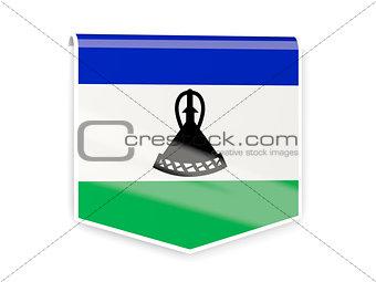 Flag label of lesotho