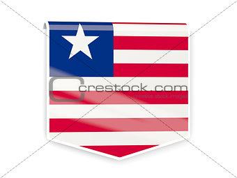 Flag label of liberia