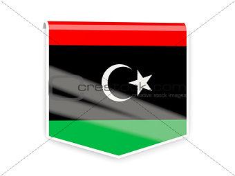 Flag label of libya
