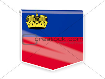 Flag label of liechtenstein