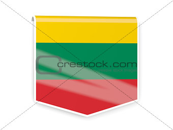 Flag label of lithuania