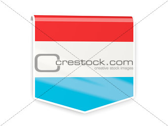 Flag label of luxembourg