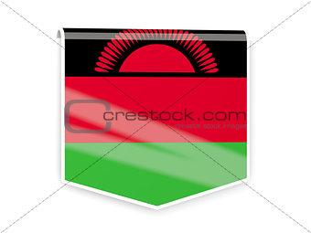 Flag label of malawi