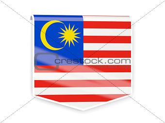 Flag label of malaysia