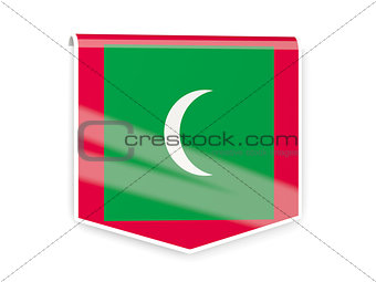 Flag label of maldives