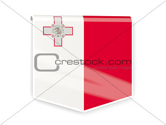 Flag label of malta