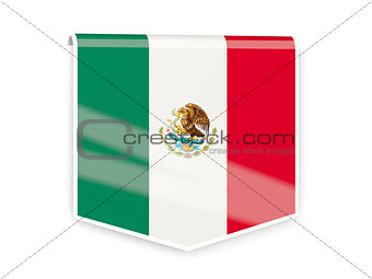 Flag label of mexico
