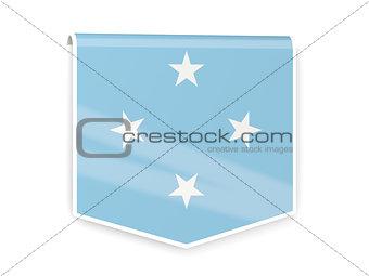 Flag label of micronesia