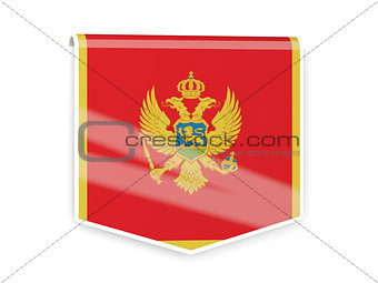 Flag label of montenegro