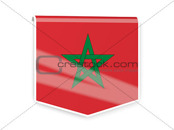 Flag label of morocco