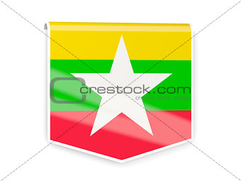 Flag label of myanmar