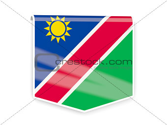 Flag label of namibia