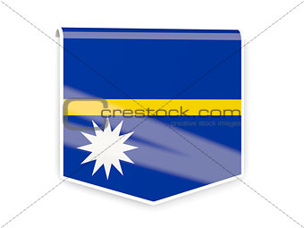 Flag label of nauru