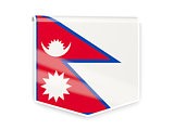 Flag label of nepal