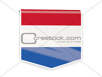 Flag label of netherlands