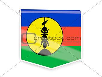 Flag label of new caledonia
