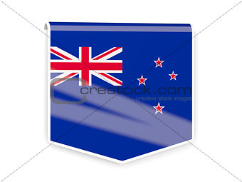 Flag label of new zealand