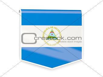 Flag label of nicaragua