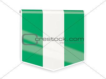 Flag label of nigeria