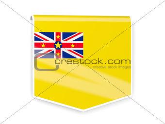 Flag label of niue