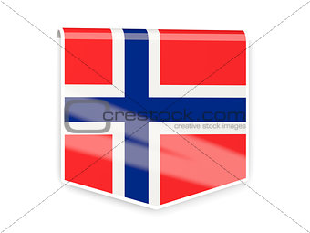 Flag label of norway
